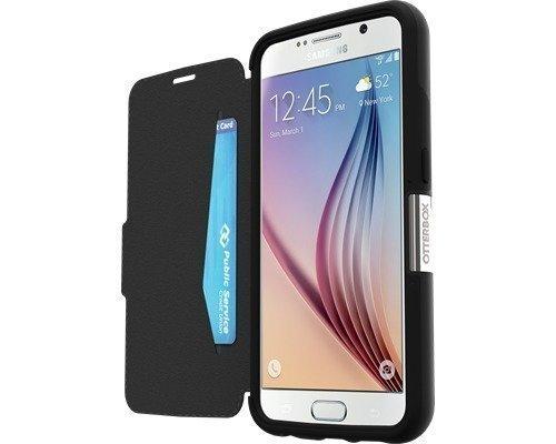 Otterbox Strada Läppäkansi Matkapuhelimelle Samsung Galaxy S6 Musta