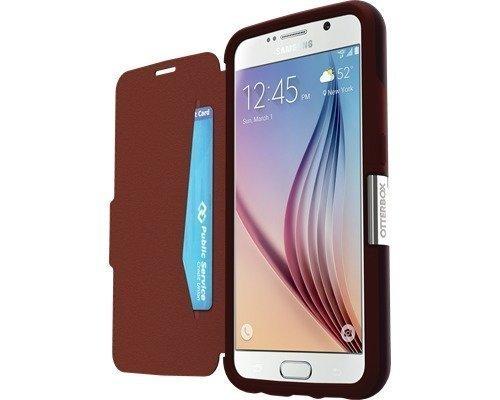 Otterbox Strada Läppäkansi Matkapuhelimelle Samsung Galaxy S6 Punainen
