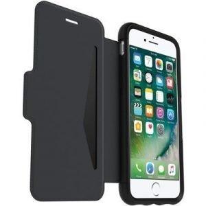 Otterbox Strada Premium Folio Läppäkansi Matkapuhelimelle Iphone 7 Musta