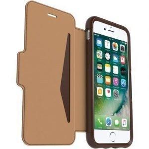 Otterbox Strada Premium Folio Läppäkansi Matkapuhelimelle Iphone 7 Saddle Brown