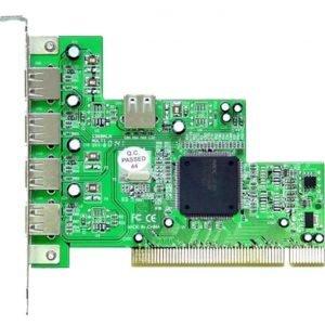 PCI-kortti 5x USB 2.0