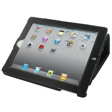 PDair Kirjamallinen läppäkotelo iPad 2 iPad 3 iPad 4 Musta