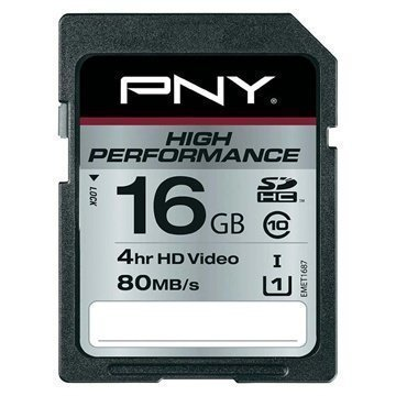 PNY SD16G10HIGPER80-EF High Performance SDHC Muistikortti 16Gt