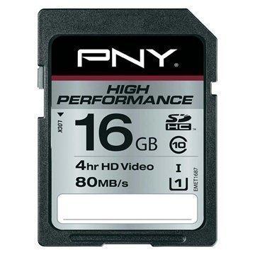 PNY SD16G10HIGPER80-EF High Performance SDHC Muistikortti 16Gt