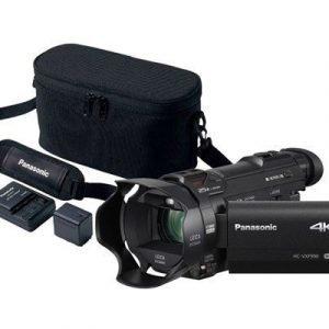 Panasonic Hc-vxf990 + Lisäakku + Akun Laturi + Alkuperäislaukku (vw-act380e-k) Musta
