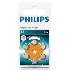 Philips Button Cell Battery Zinc-air Za 13-d6 1