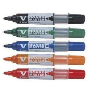 Pilot Whiteboard Pen V Board Round Tip 5-set