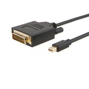 Prokord Displayport -kaapeli Mini Displayport Uros Dvi-d Dual Link Naaras Musta 1m