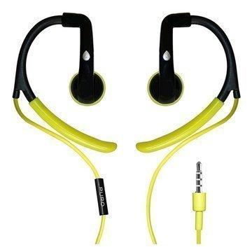 Puro IPHFSPORT1GRN Stereonappikuulokkeet Mikrofonilla Musta / Limenvihreä