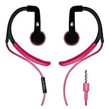 Puro PHFSPORT1PNK Stereonappikuulokkeet Mikrofonilla Musta / Vaaleanpunainen