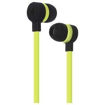 Puro Sport In-Ear Stereokuulokkeet Musta / Limenvihreä