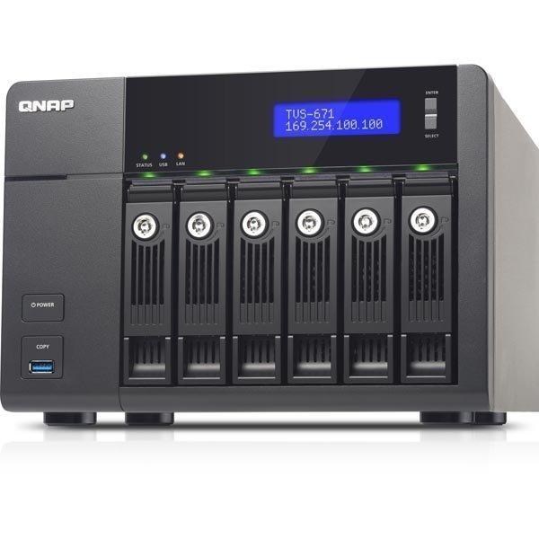 """QNAP TVS-671-I3-4G NAS- 6x 3 5 SATA-HDD i3"""""""