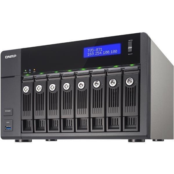 """QNAP TVS-871-I3-4G NAS 8x3 5 SATA-HDD i3 """""""