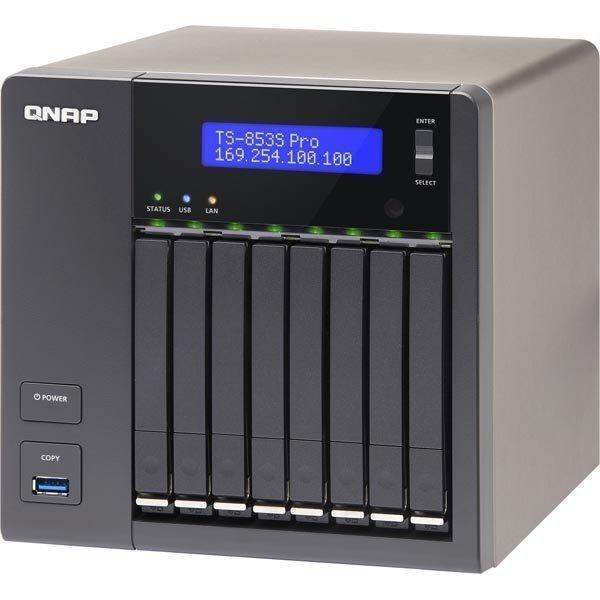 """Qnap NAS 8-Bay 4GB DDR3L RAM 2 5 SATA 6Gb/s 4 Giga Lan HDMI ut mu"""""""