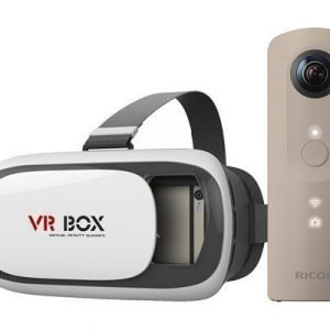 Ricoh Theta Sc + Virtual Reality Headset Beige
