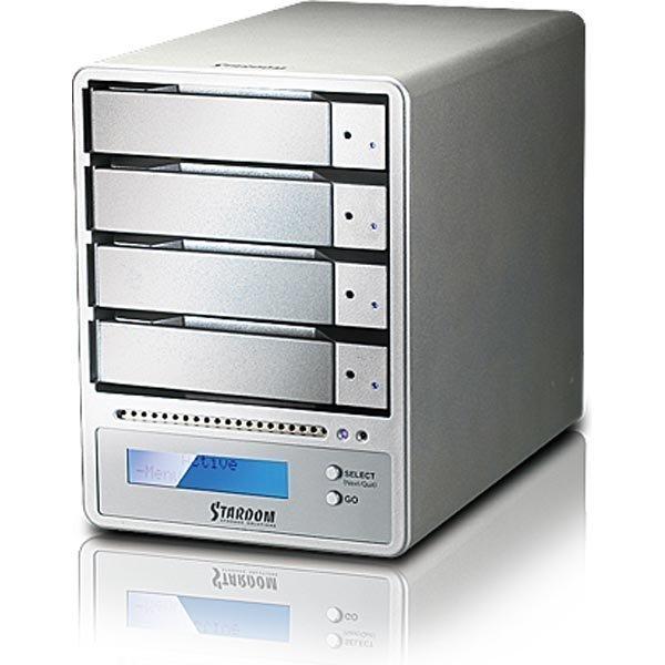 STARDOM ulkoinen RAID-kotelo 4x SATA-levylle USB3/eSATA/FW800