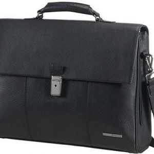Samsonite Equinox Briefcase 15.6tuuma Nahka Musta