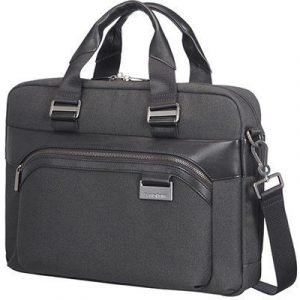 Samsonite Upstream Bailhandle Slim 14.1tuuma Polyesteri Musta