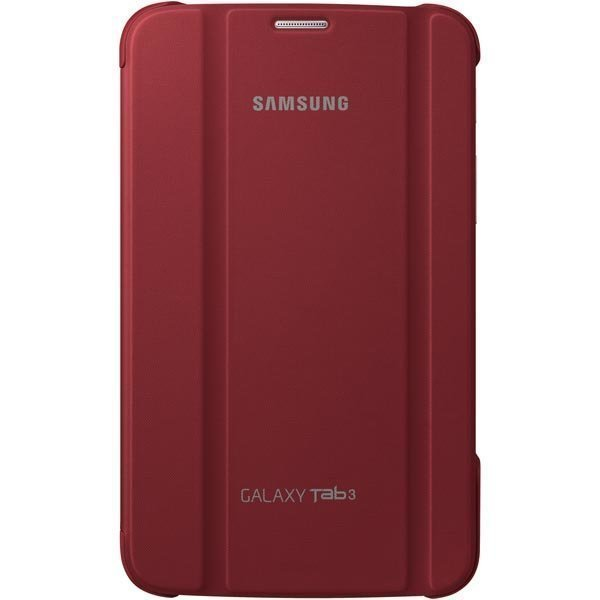 Samsung Book Cover Case Galaxy Tab 3 7.0 viininpunainen
