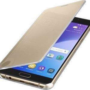 Samsung Clear View Cover Ef-za510cf Läppäkansi Matkapuhelimelle Samsung Galaxy A5 (2016) Kulta
