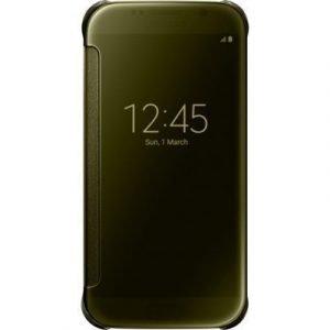 Samsung Clear View Cover Ef-zg920b Läppäkansi Matkapuhelimelle Samsung Galaxy S6 Kulta