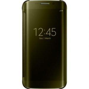 Samsung Clear View Cover Ef-zg925b Samsung Galaxy S6 Edge Kulta
