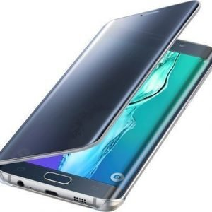 Samsung Clear View Cover Ef-zg928c Läppäkansi Matkapuhelimelle Samsung Galaxy S6 Edge+ Musta Sininen