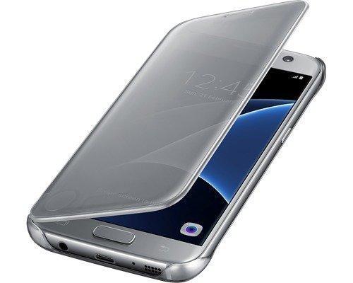 Samsung Clear View Cover Ef-zg930 Läppäkansi Matkapuhelimelle Samsung Galaxy S7 Hopea
