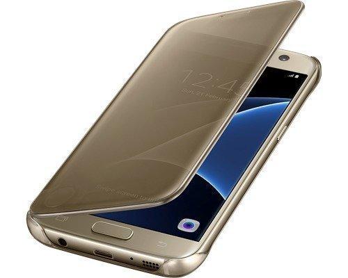 Samsung Clear View Cover Ef-zg930 Läppäkansi Matkapuhelimelle Samsung Galaxy S7 Kulta