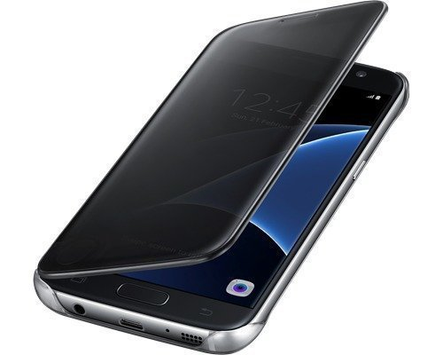 Samsung Clear View Cover Ef-zg930 Läppäkansi Matkapuhelimelle Samsung Galaxy S7 Musta