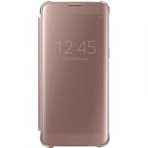 Samsung Clear View Cover Ef-zg935 Läppäkansi Matkapuhelimelle Samsung Galaxy S7 Edge Gold Pink