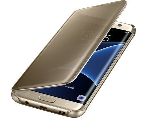 Samsung Clear View Cover Ef-zg935 Läppäkansi Matkapuhelimelle Samsung Galaxy S7 Edge Kulta