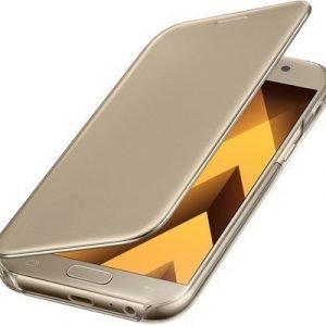 Samsung Clear View Cover Samsung Galaxy A5 (2017) Kulta