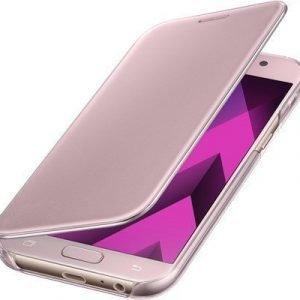 Samsung Clear View Cover Samsung Galaxy A5 (2017) Vaaleanpunainen