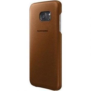 Samsung Ef-vg935 Takakansi Matkapuhelimelle Samsung Galaxy S7 Edge Ruskea