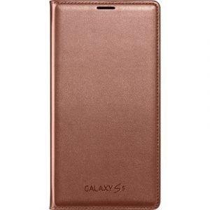 Samsung Flip Wallet Ef-wg900 Läppäkansi Matkapuhelimelle Samsung Galaxy S5/s5 Neo Ruusun Kulta