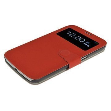 Samsung Galaxy Mega 6.3 i9200 iGadgitz Flip Leather Case Red