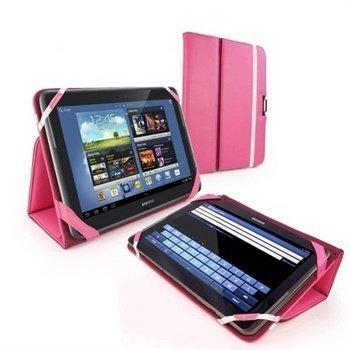 Samsung Galaxy Note 10.1 N8000 N8010 N8020 Tuff-Luv Type-View Nahkakotelo Pinkki