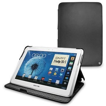 Samsung Galaxy Note 10.1 N8000 N8010 Noreve Tradition Nahkakotelo Musta