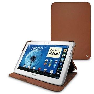 Samsung Galaxy Note 10.1 N8000 N8010 Noreve Tradition Nahkakotelo Ruskea
