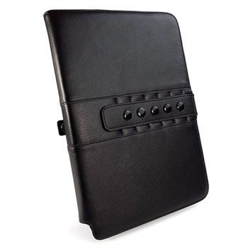 Samsung Galaxy Note 10.1 N8000 Tuff-Luv Multi-View Nahkakotelo Musta