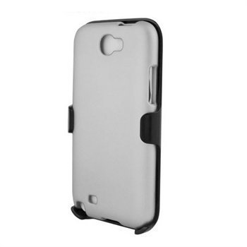 Samsung Galaxy Note 2 N7100 Beyond Cell 3in1 Combo Kotelo Valkoinen / Musta