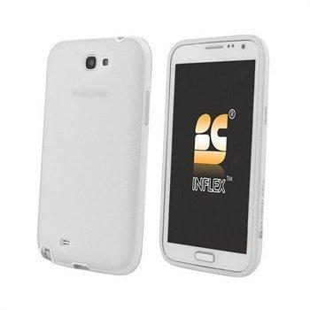 Samsung Galaxy Note 2 N7100 Inflex TPU-Suojakotelo Valkoinen / Valkoinen