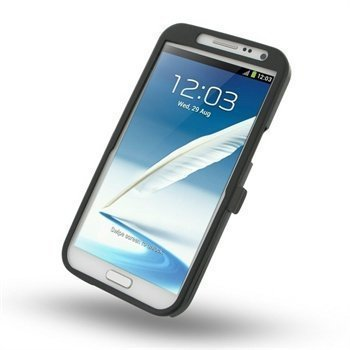 Samsung Galaxy Note 2 N7100 Metal Case Musta