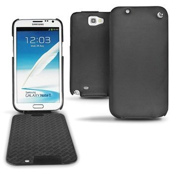 Samsung Galaxy Note 2 N7100 Noreve Tradition Flip Leather Case Black