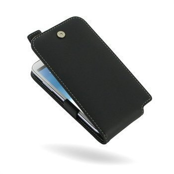 Samsung Galaxy Note 2 N7100 PDair Leather Case 3BSSN2T41 Musta