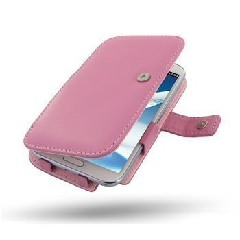 Samsung Galaxy Note 2 N7100 PDair Leather Case 3JSSN2B41 Vaaleanpunainen