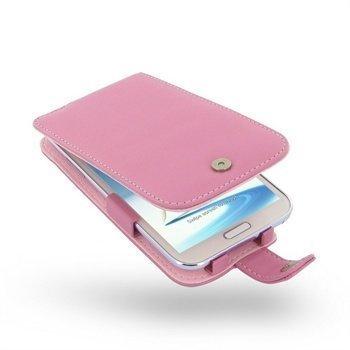 Samsung Galaxy Note 2 N7100 PDair Leather Case 3JSSN2F41 Vaaleanpunainen