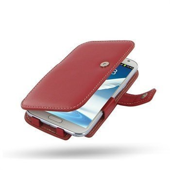 Samsung Galaxy Note 2 N7100 PDair Leather Case 3RSSN2B41 Punainen