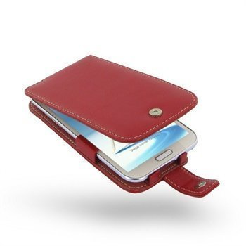 Samsung Galaxy Note 2 N7100 PDair Leather Case 3RSSN2F41 Punainen